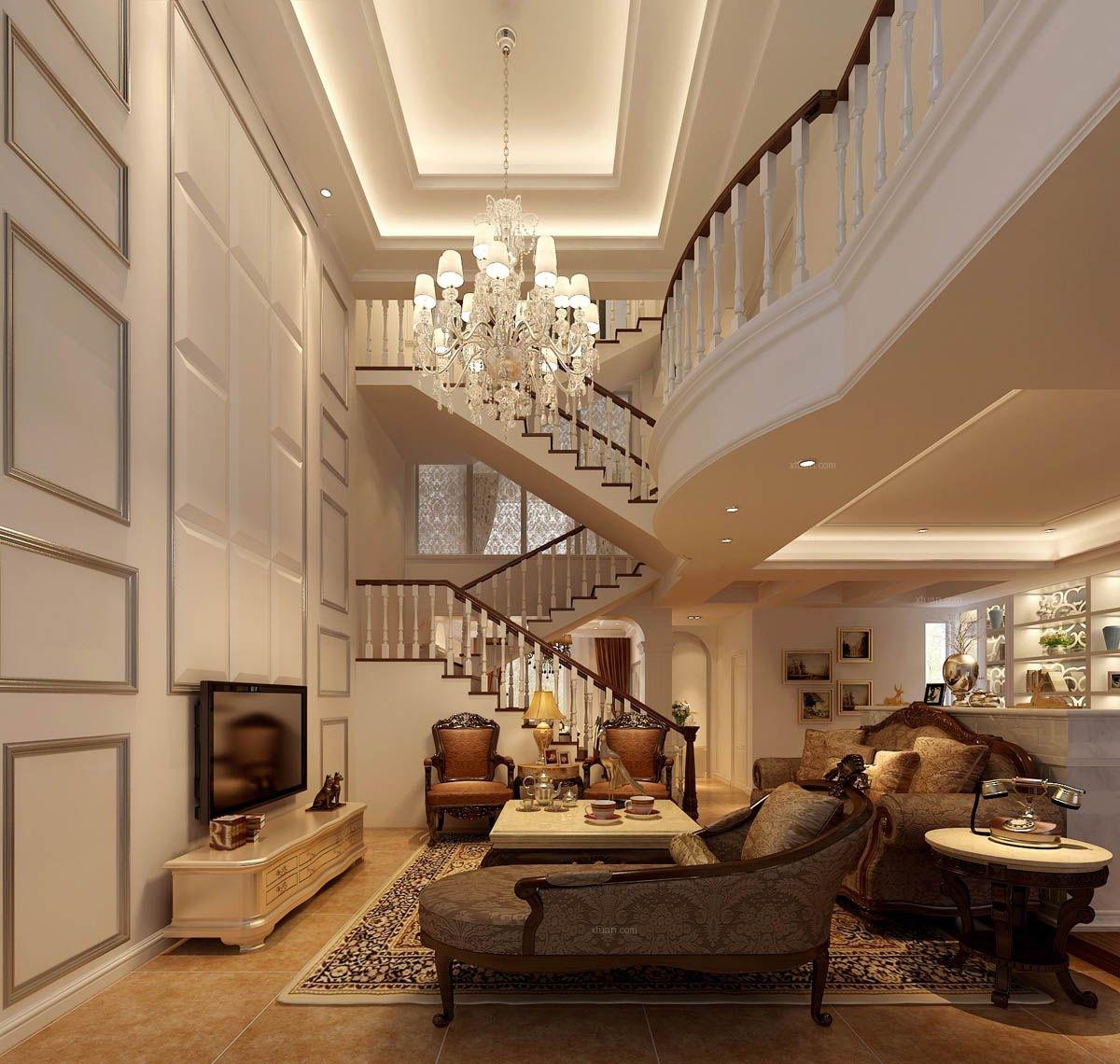 标签:客厅别墅欧式风格电视背景墙 设计理念:典型的古典欧式风格,以