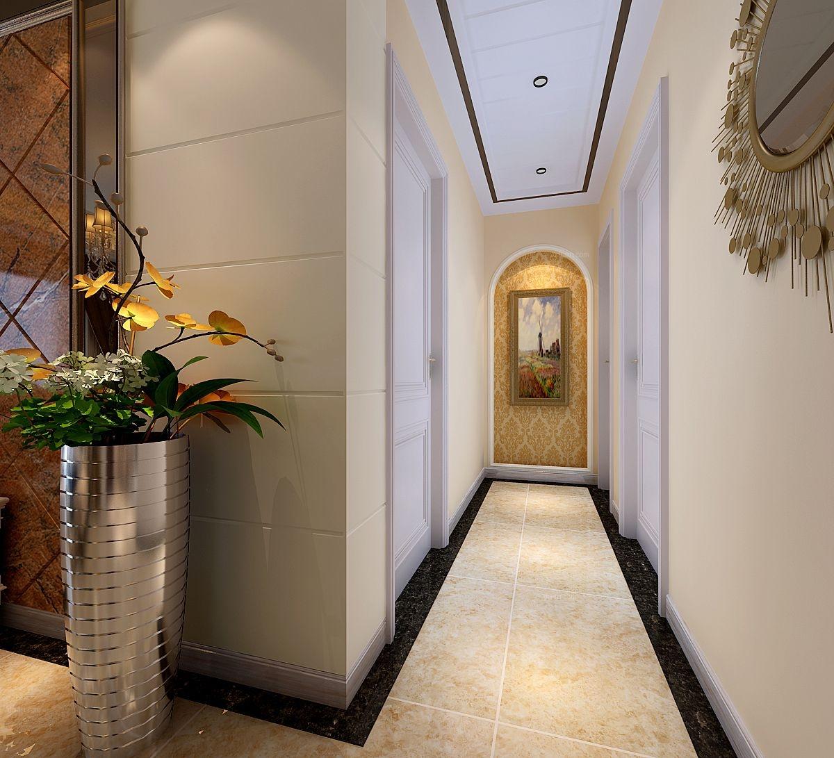 两居室简欧风格过道图片