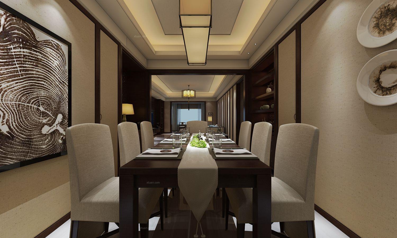 三室两厅中式风格餐厅图片