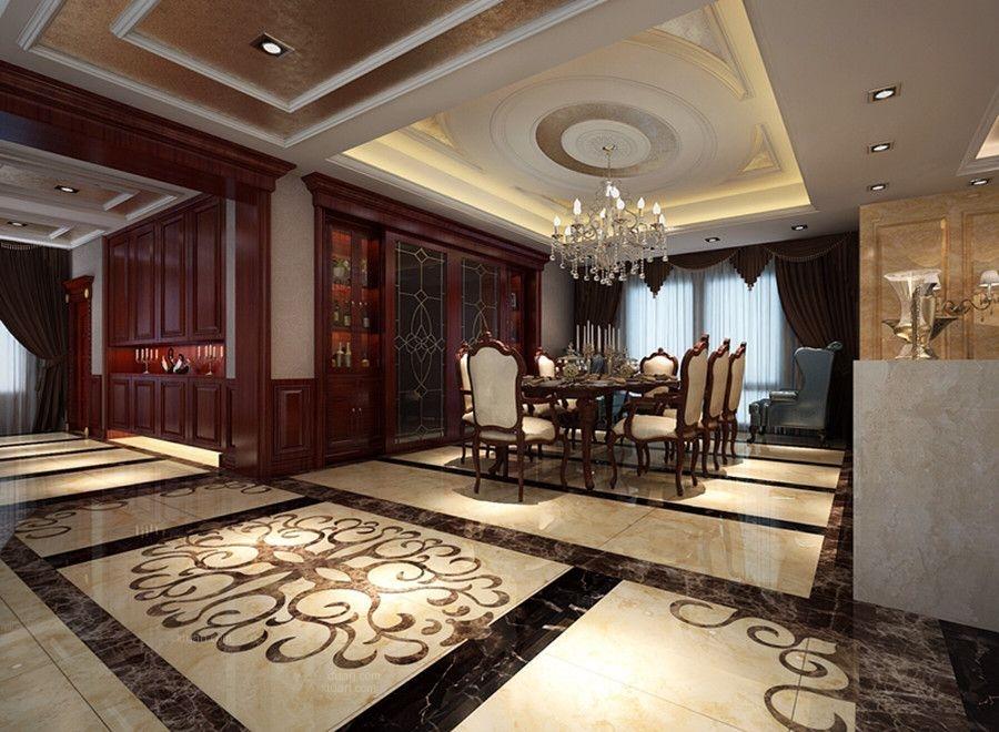 标签:餐厅别墅北欧风格 设计理念:本案例欧式古典别墅装修效果图.