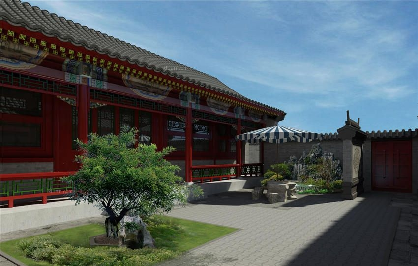 清雅中式四合院设计