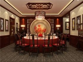 天津老宅院酒楼中式设计装修效果图图片