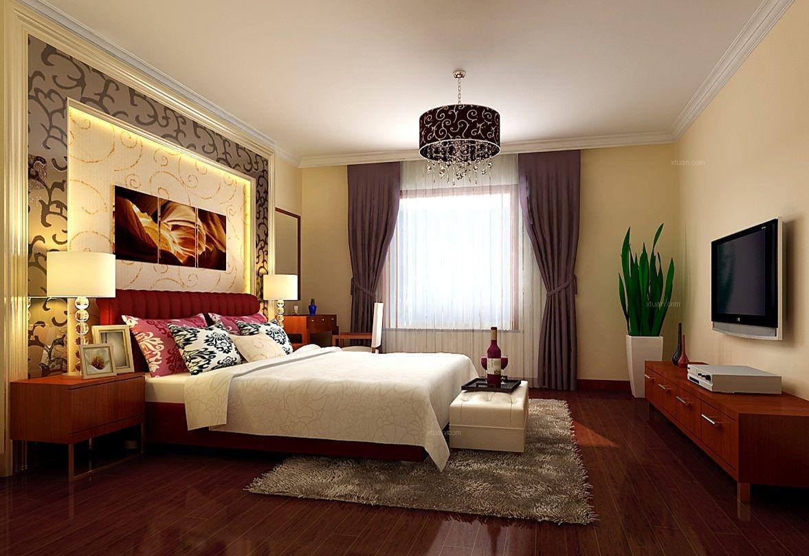 【上海实创装饰】打造三居室简约中式风格装修效果图