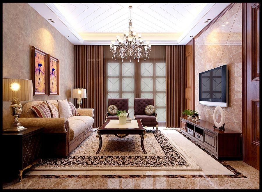 三居室平现代中式婚房 演绎古典与时尚