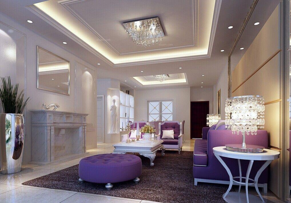 紫金城中央公园-大爱粉紫设计