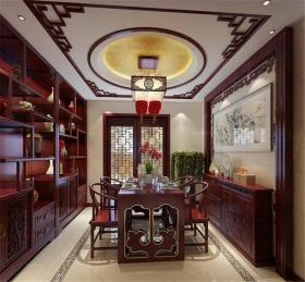 别墅中式餐厅图传统中式别墅餐厅图片4