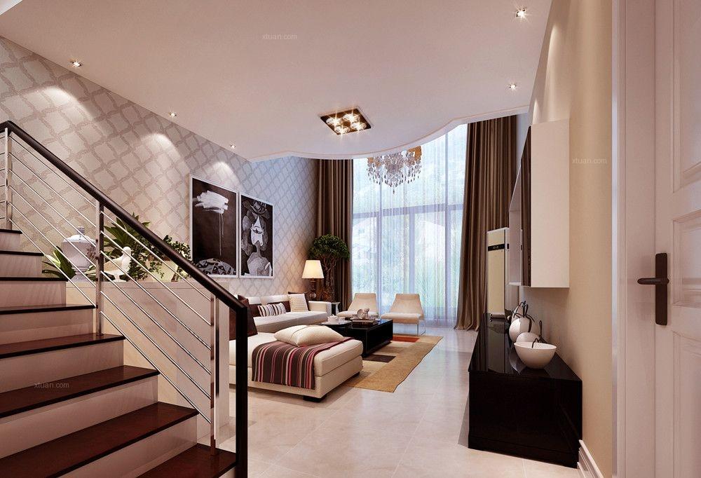 【上海实创装饰】打造220平别墅时尚靓丽现代简约风装修效果图