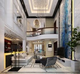简欧的复式楼设计简约风格装修效果图图片