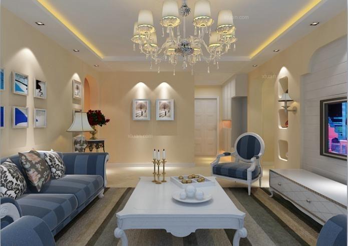 三居室欧式风格客厅图片