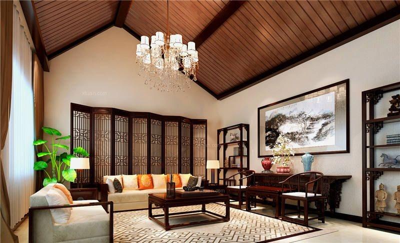 北京现代四合院别墅设计装修效果图