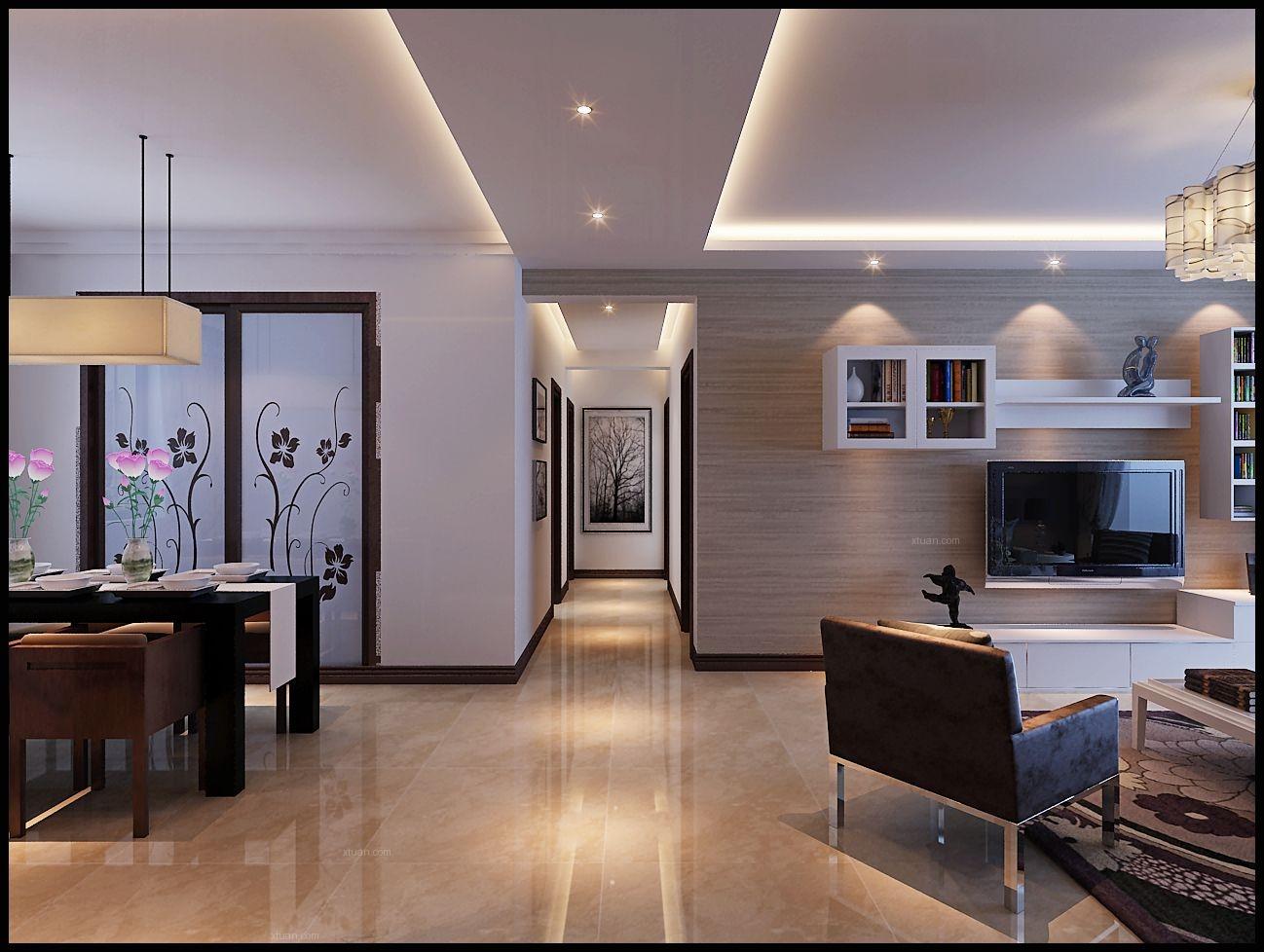 纳帕名门135平三居室现代简约风格设计效果图