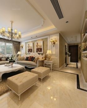 天琴湾120平方简欧风格,家是温馨的港湾装修效果图图片