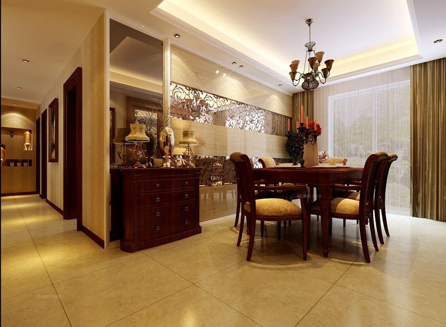180平现代欧式风格奢华四居室装修案例