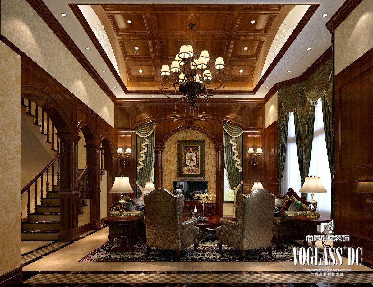 成都别墅首席设计师推荐龙湖长桥郡最新美式风格案例装修效果图图片