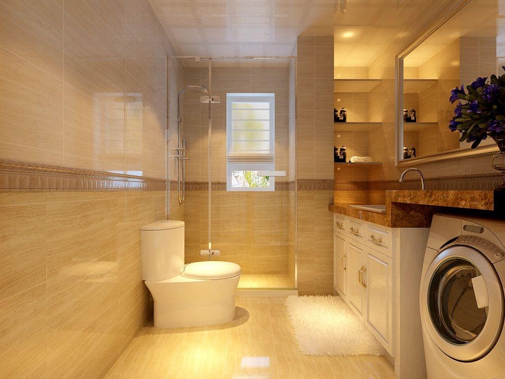 三居室简欧风格卫生间软装图片