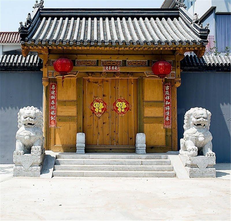 古典中式门头设计装修效果图图片