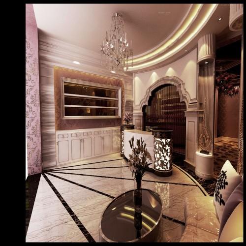 200平美容院新古典风格设计