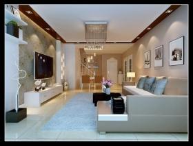 荣华北经城 现代风格装修效果图-三室两厅现代风格客厅