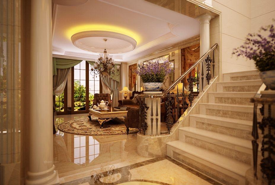 玄关美式位置别墅软装合肥玫瑰别墅申城风格图片