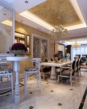 丽水家园195平方欧式风格方案报价装修效果图-复式楼欧式
