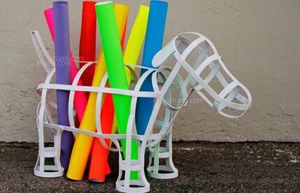 家居创意收纳设计:小铁狗装饰容器,帅呆了!