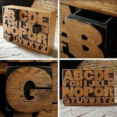 创意无止境,随心所欲的创意字母家具
