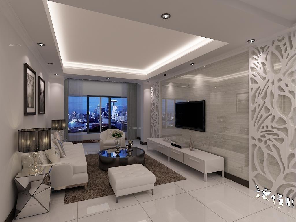 兰亭新区-5万打造90平现代风格