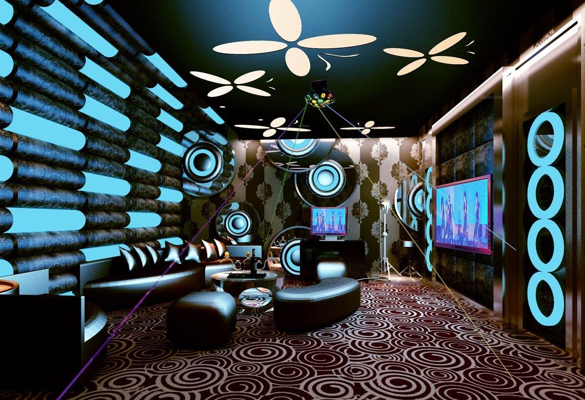 地下室家庭影院_别墅欧式风格地下室家庭影院