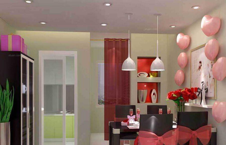 装修设计画报 婚房气球布置