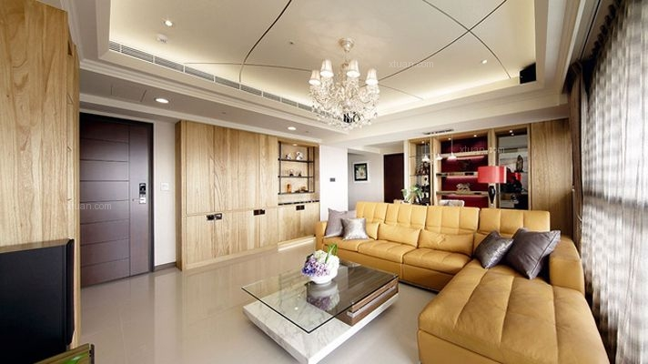 142平现代简欧混搭雅居 客厅巧设开放式阅读区