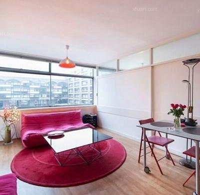 43平魅力小户型公寓,玩转色彩的心动!