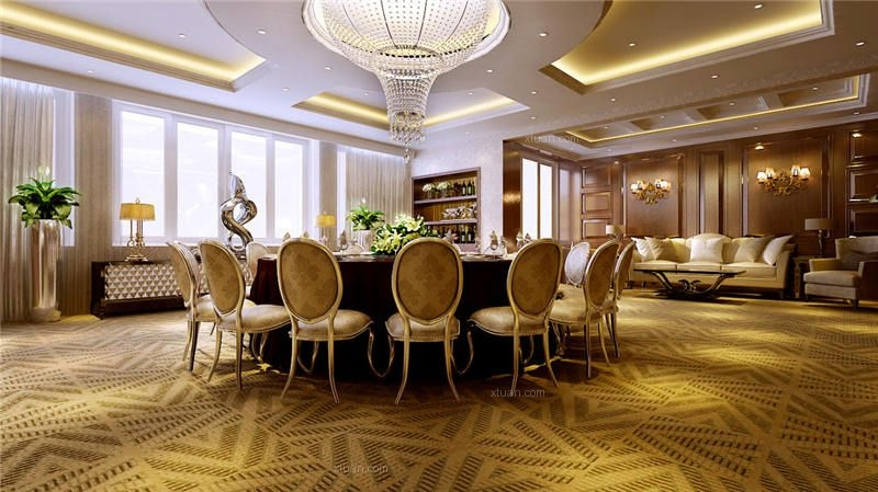 欧式古典风格高级会所装修