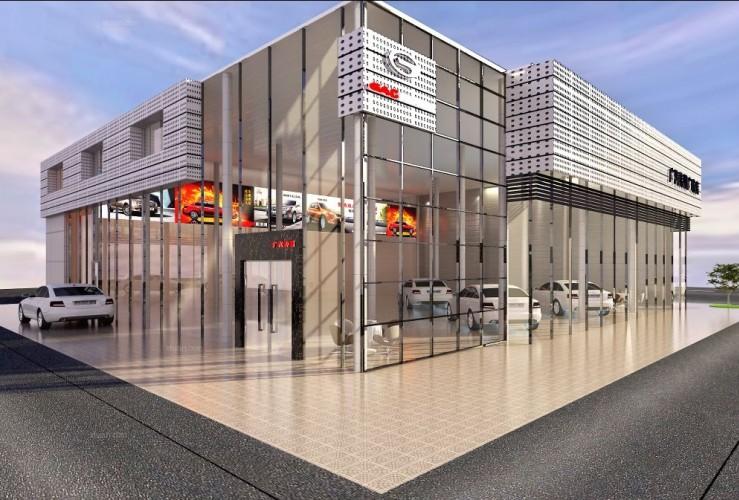 广汽4S店门面设计