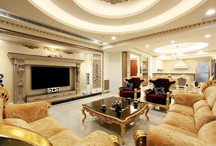 198平欧式古典奢华别墅 细腻的浮雕图腾演绎宫廷奢华