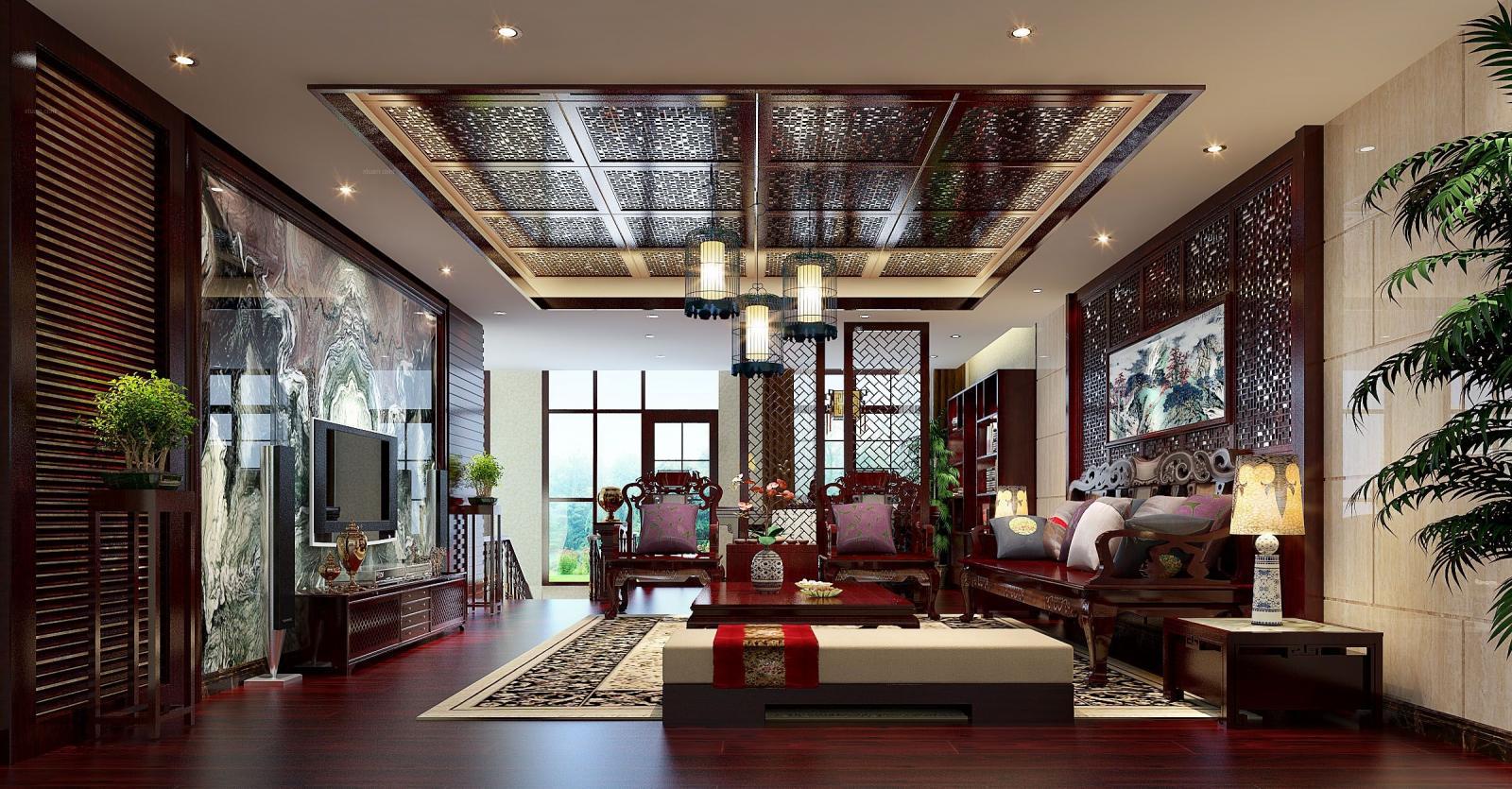 四居室中式风格客厅图片