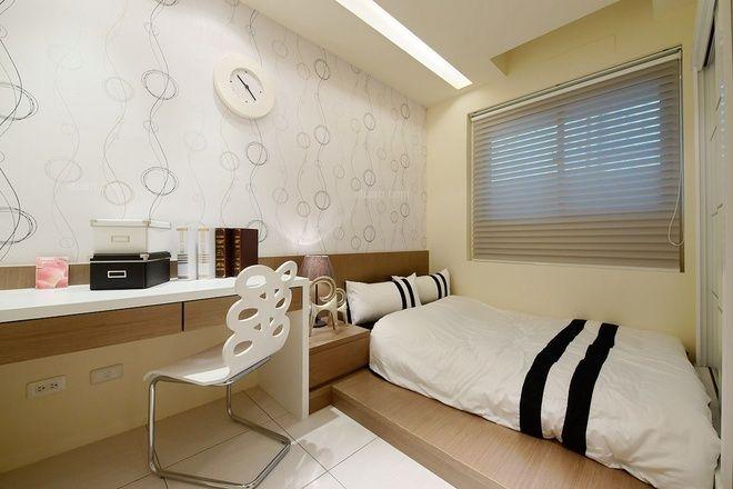 98平现代简约时尚公寓 主卧巧妙房嵌入衣橱