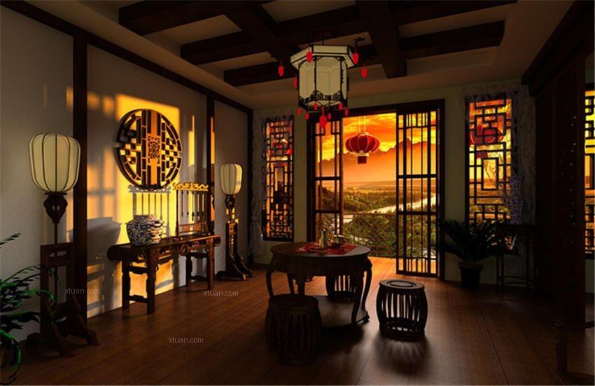 中式风格茶馆设计古典温馨