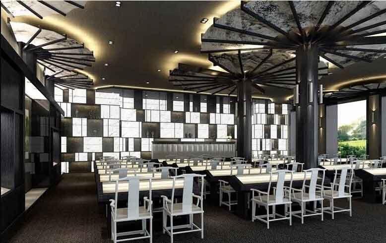 新中式酒店装修效果图图片