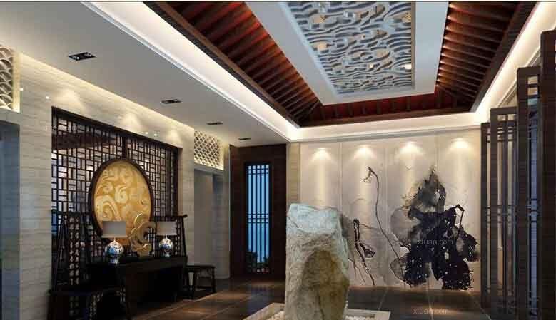 标签:茶馆 设计理念:中式是一种经典和传统,新中式则是在中式的基础