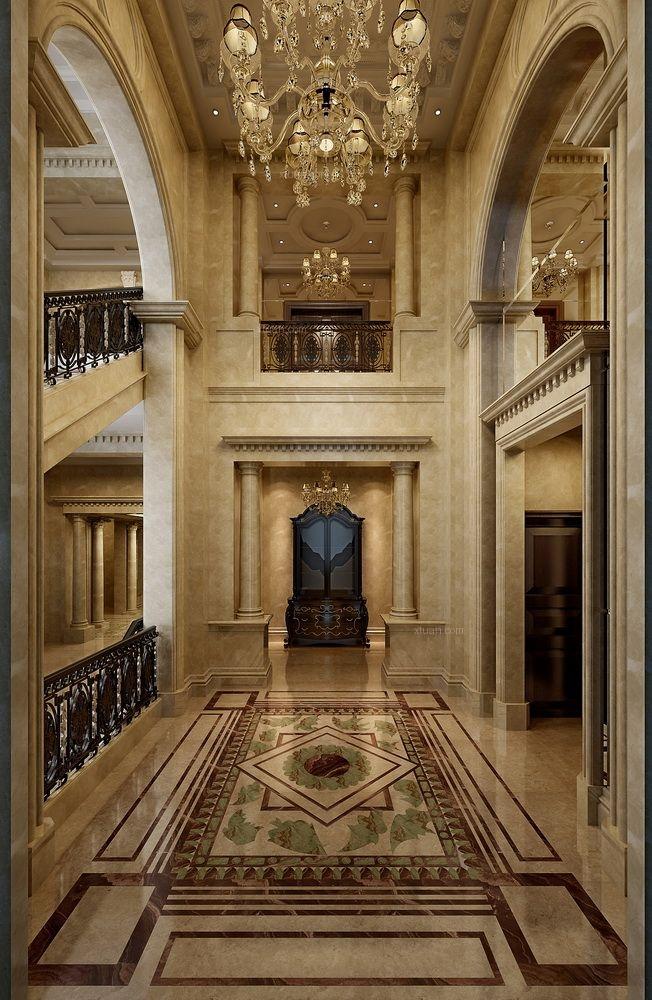 别墅欧式风格客厅隔断图片