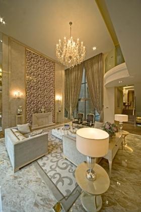 丹宁顿别墅欧式风格客厅装修效果图