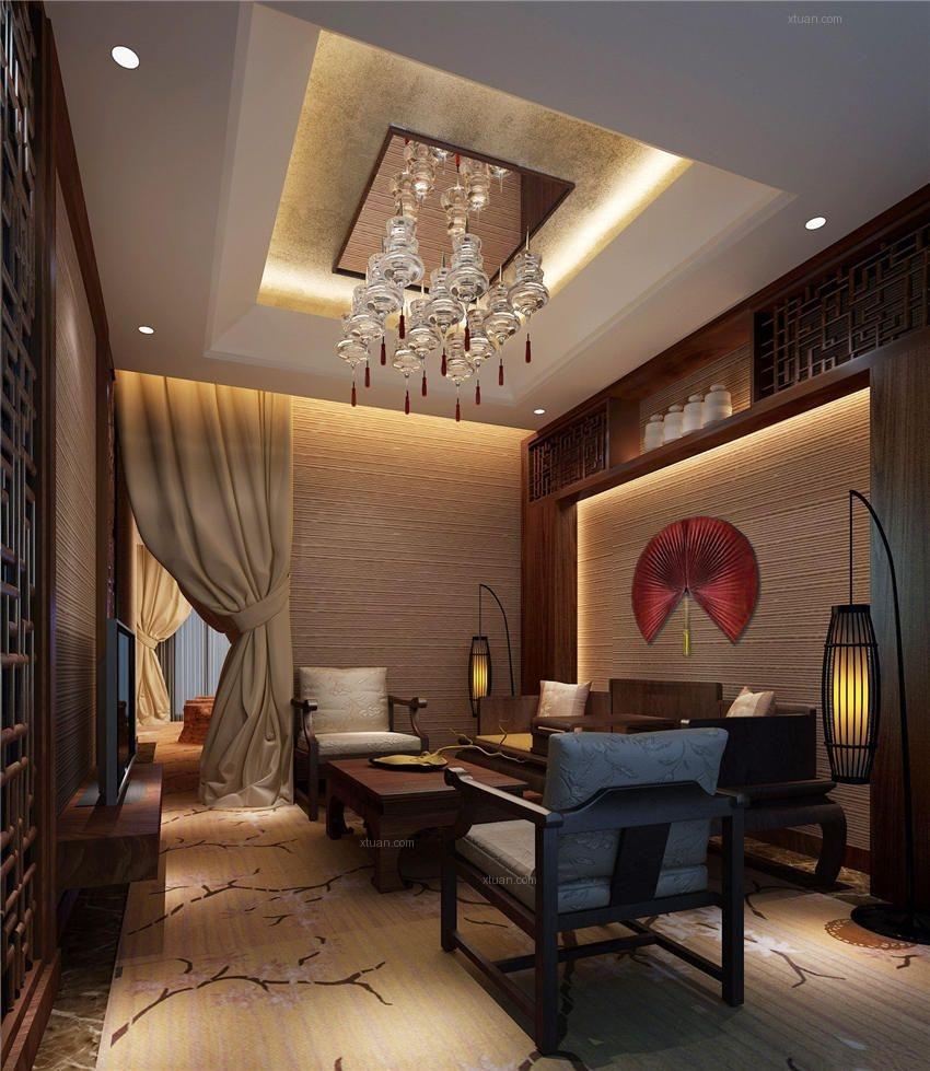 华丽喜庆中式风格北京酒店装修效果图图片