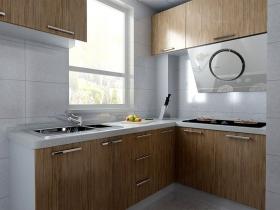 名流印象四期-2室2厅1厨1卫装修效果图-两居室现代风格厨房