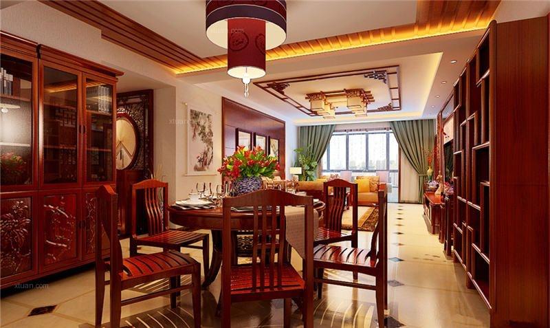 风华绝代中式风格别墅设计效果图