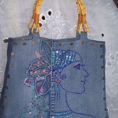 旧牛仔裤DIY创意包包,超可爱!