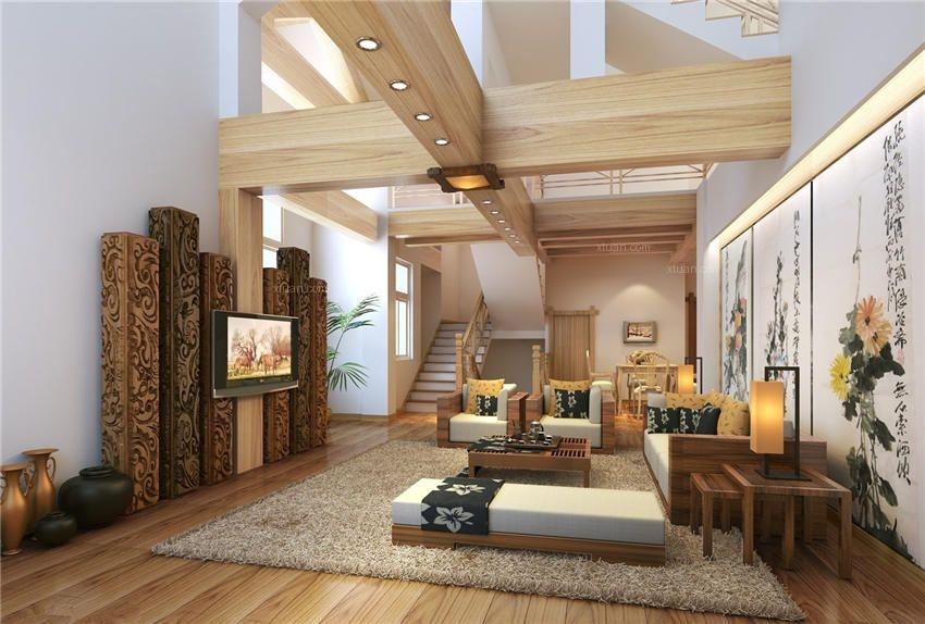 独栋大型别墅设计中式风格装修效果图