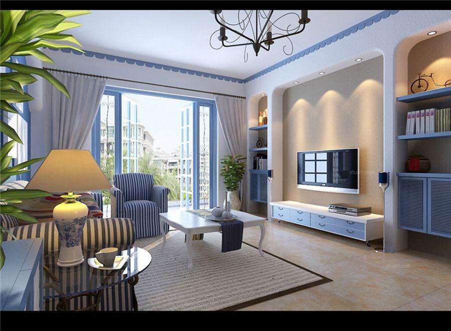 地中海-96平米两居室