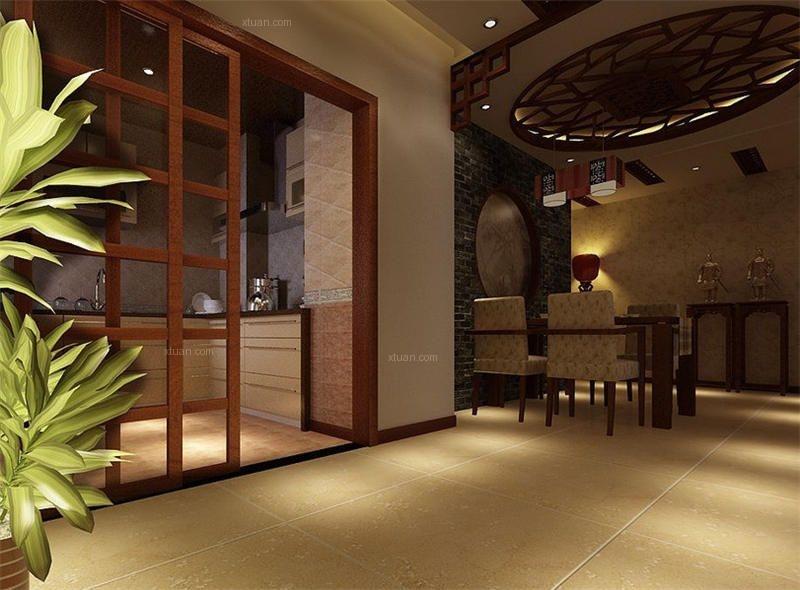 简约中式风格农村别墅室内设计装修效果图