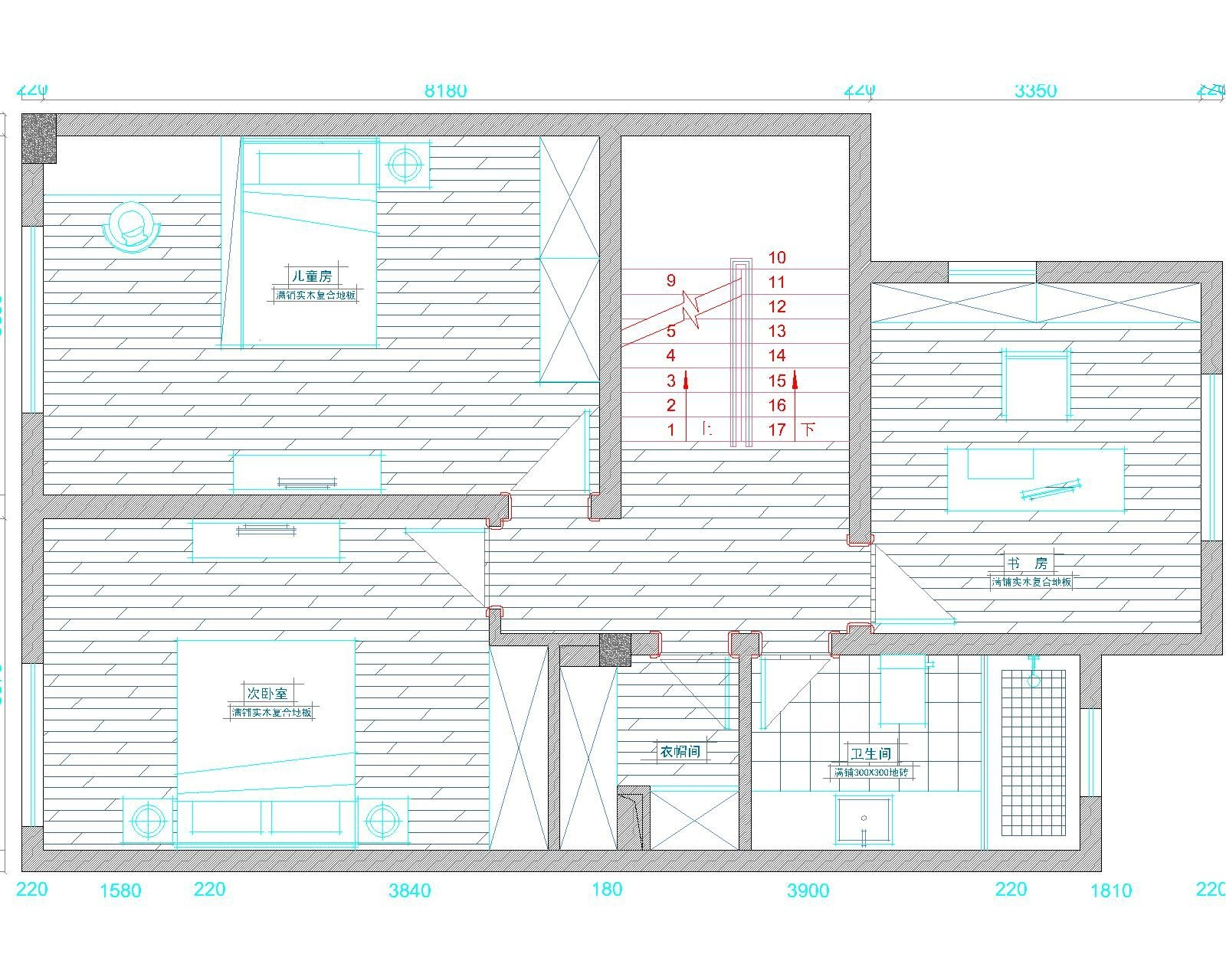 安亭瑞士华庭别墅欧式风格设计装修效果图
