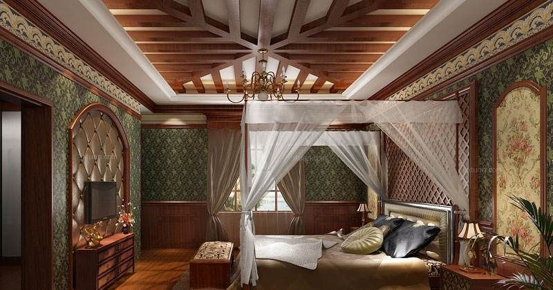 独栋别墅美式风格主卧室